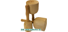 Steenbeuken klopper met essen handvat 80mm 400gram
